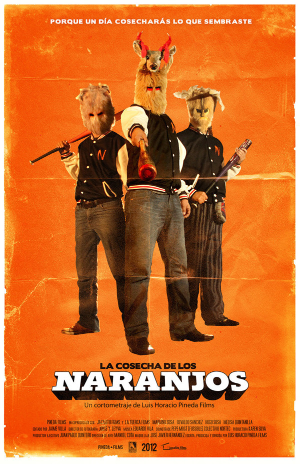 La Cosecha de los Naranjos #logotype #movie #design #orange #cosecha #simple #shortfilm #cine #naranjos #poster #film #cartel #logo #typography