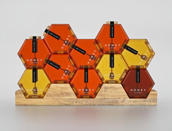 lovely package hexagon honey 5 #gold #wood #hexagon #honey