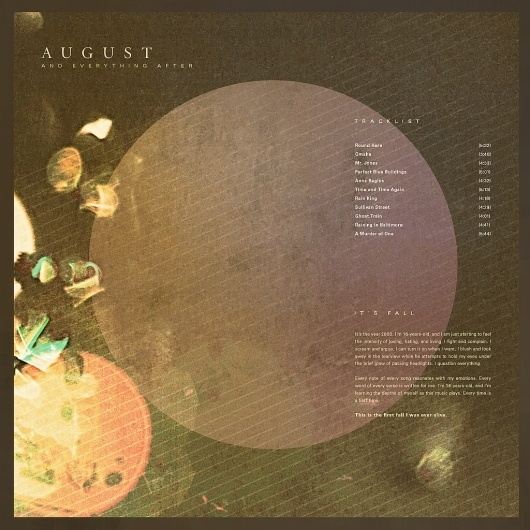 All sizes | August & Everything After | Flickr - Photo Sharing! #album #modern #texture #simple #cover