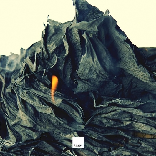 SMM: Context on the Behance Network #burn #cover #record #fire #paper