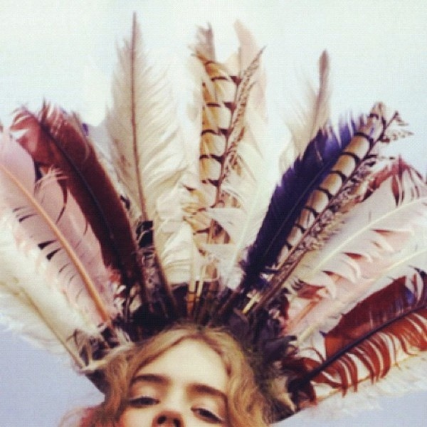 Girl in feathers #girl #feathers
