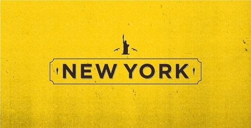 design work life » Albin Holmqvist: EF Destinations #icon #typography #series #york #new