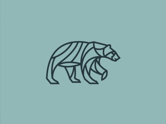 Dribbble - Screen_shot_2012-05-10_at_10.43.33_AM.png by Scott Hill #monolinear #bear #illustration #geometric