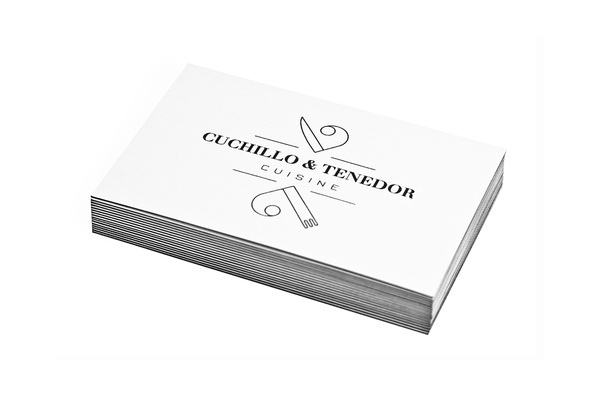 Cuchillo & Tenedor Decimal #business #restaurant #cuisine #decimal #knife #cards #fork