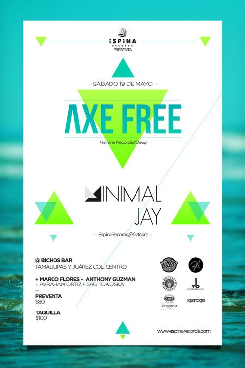 Axe Free Flyer #flyer #design #free #turquoise #poster #axe #blue #beach #green