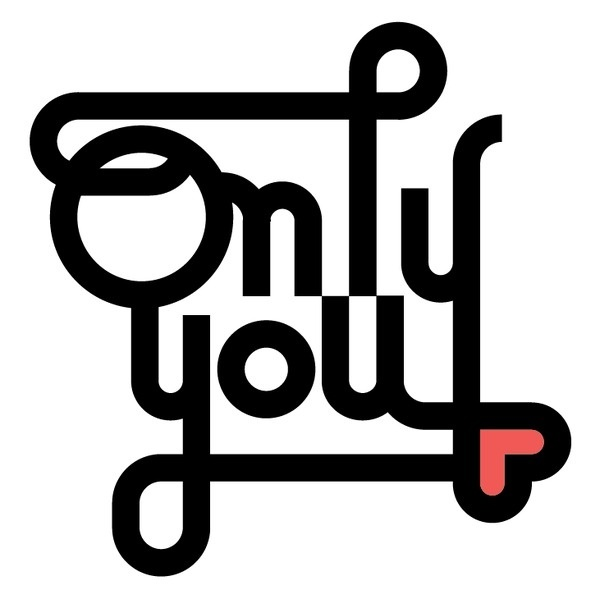 Only you #heart #calligraphy #modular #lettering #delgado #vectorial #you #design #graphic #poster #sergi #only #love #typography