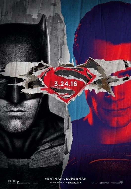 Batman v Superman: Dawn of Justice #movie #cinema #poster #dc