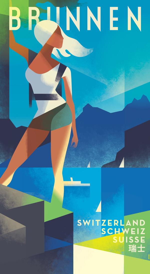 Brunnen poster #illustration