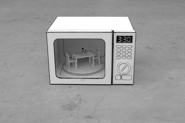 . #microwave #cardboard #set