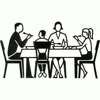 Dinner Table Pictogram - Gerd Arntz Web Archive #icon #symbol #pictogram