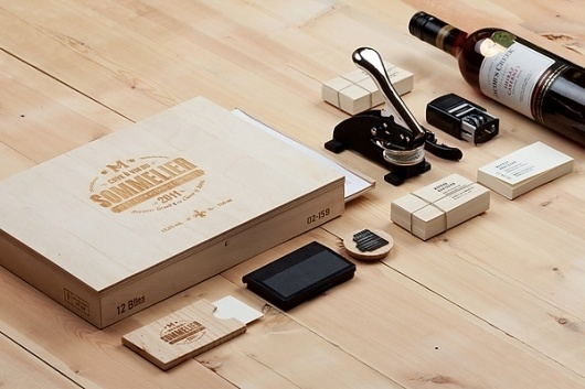 Sommelier Markov Anatoly on the Behance Network #stamp #sommelier #wood #identity #vintage #typography