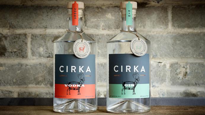 Cirka Vodka #typography #packaging