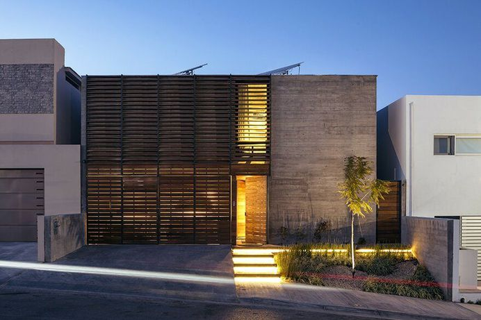 Sustainable Smart House Built with Concrete, Steel and Wood