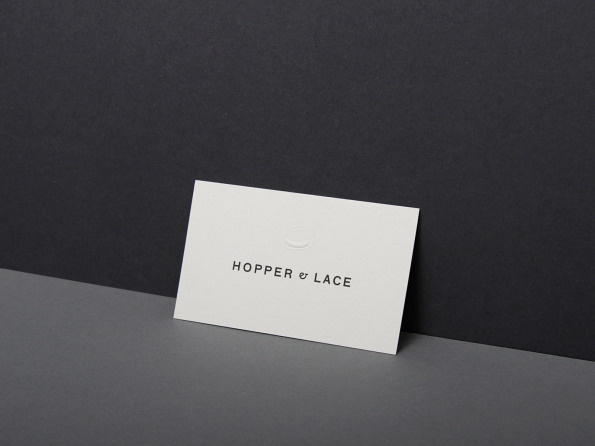 Kasper-Florio #die #cut #business #card #solid #ampersand #letter #press #identity #stationery #logo #watermark #paper #typography