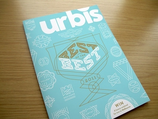 Urbis Magazine - Best of the Best 2011 Cover on the Behance Network #monoline #design #graphic #cover #magazine