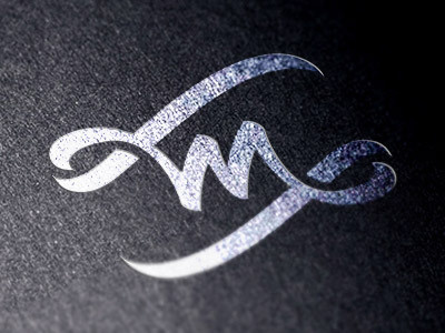 M #calligraphy #lettering #flag #design #monogram #brush #logo