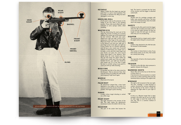 You Can Be an Expert Rifleman on Behance #rifle #shooting #how #orange #book #publication #to #vintage #layout #editorial