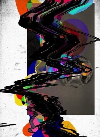 Work by Tuscani Cardoso #dada #black #saturation #paint #portrait #colour #art #tuscani #collage #scan