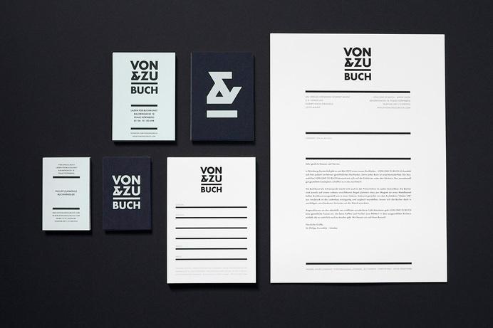 VON & ZU BUCH Book Shop Stationery - www.philippzm.com #business #branding #card #shop #book #store #ampersand #identity #symbol #stationery #logo #letterhead
