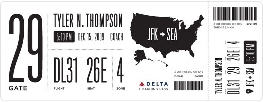 Redesigning the Boarding Pass - Journal - Boarding Pass /Â Fail #gotham #display #gothic #condensed #typography