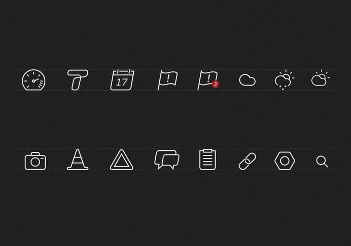 icons, stroke