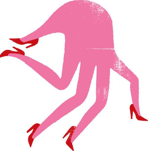 image #illustration #hand #heels