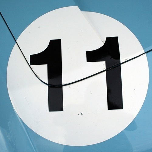 silkscreened 11 on metal #numbers #metal #silkscreen