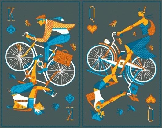 My Posterentry - BLOG - Jeremy Slagle Designer #bicycle #face #cards #poster
