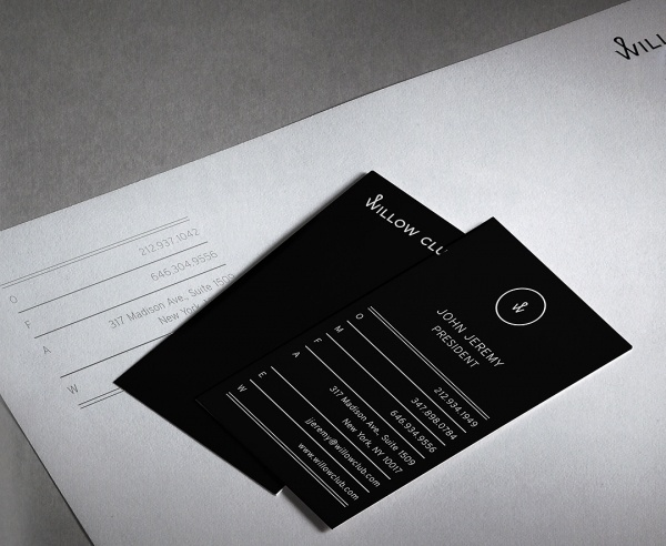 Willow Club Identity on Branding Served #elegant #dark #typography