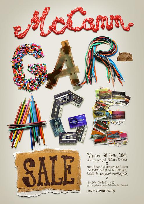 McCann Garage Sale #design #graphic #typography