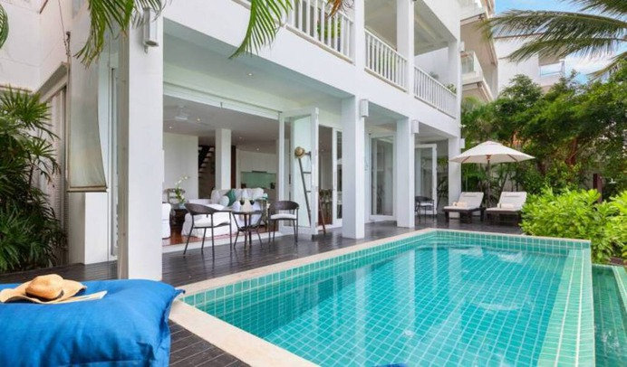 3-Storey Beachfront Holiday Home villa is set in the heart of Fisherman's Village, Bophut, and is for traveler who look for to enjoy more than a touch of the fabled East. Book with Villa Getaways.