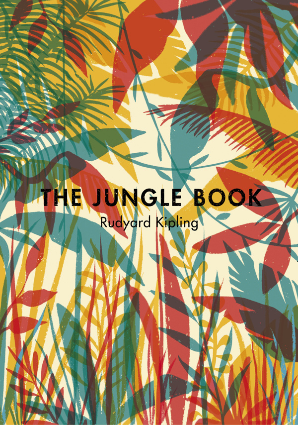 The Jungle Book on Behance #pattern #wilderness #classic #book #cover #nature #vintage #jungle