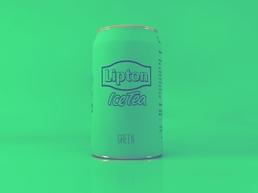 LIPTON ICE TEA MINIMAL EDITION on the Behance Network #can #packaging #vintage #lipton #cans #green