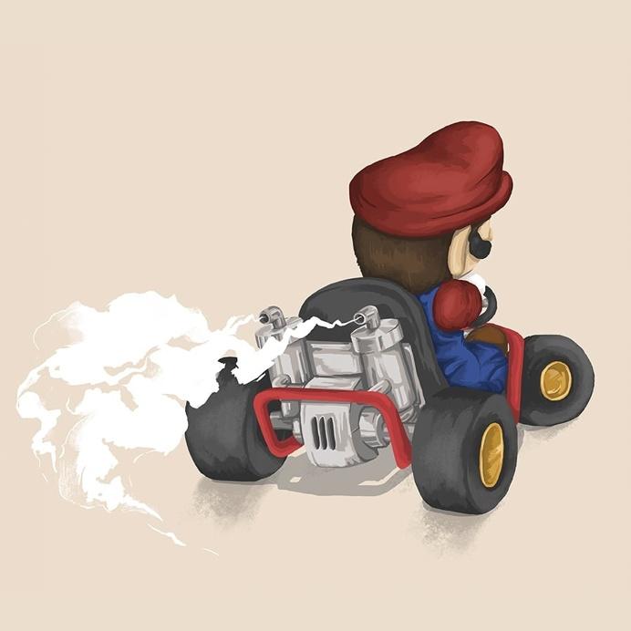 Mario - Mariokart64 #Mario #illustration #gaming #N64 #Mariokart #Retro #nintendo