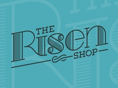 Dribbble - The Risen Shop Logo by Danny Zevallos #logo #retro