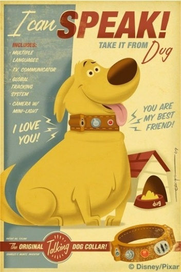dug.jpg (image) #illustration #travel #vintage #pixar