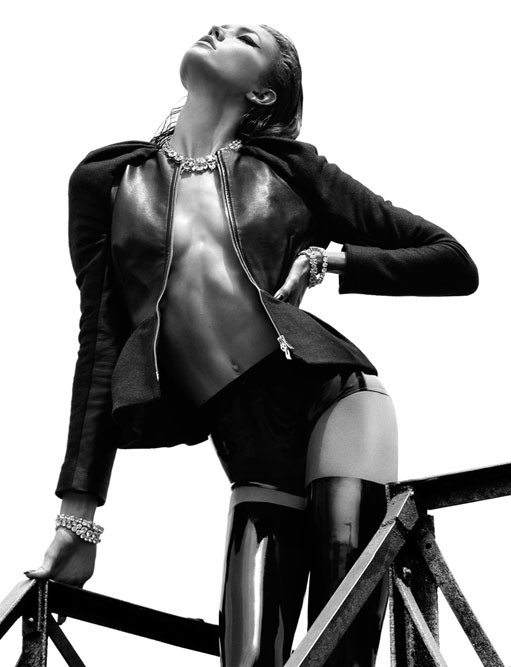 Karlie Kloss Topless by Greg Kadel for Numero 08 #fashion #women #mens #sexy
