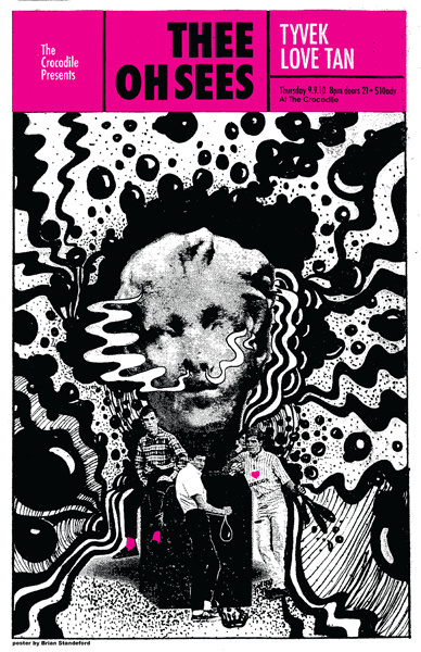 Thee Oh Sees Croc Poster Brian Standeford Design #gig #poster