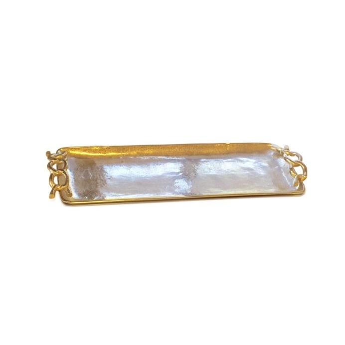 Aluminium Rectangle Tray With Loop Handle 59cm x 24cm