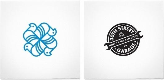 Logos : Beard is the New Black #mark #logo