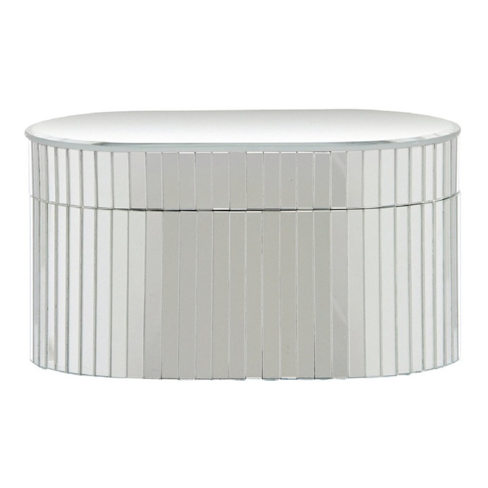 Carlisle Mirror Oval Jewellery Box, 21 cm H