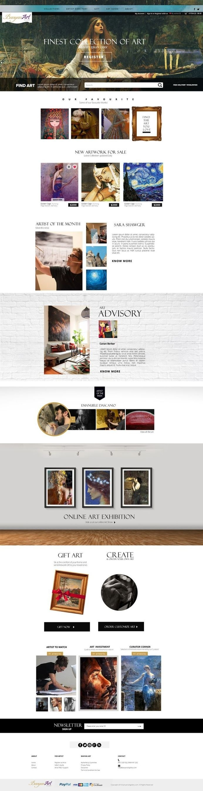 Layout for Global Art and Artists. #modern #design #concept #art #painting #layout #web