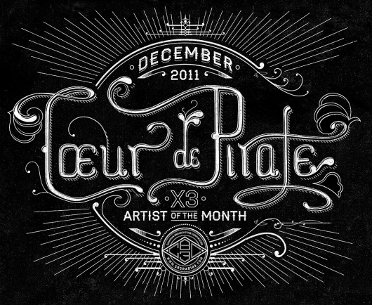 Dribbble - coeur-de-pirate-big.jpg by Ben Didier #lettering #hand #poster