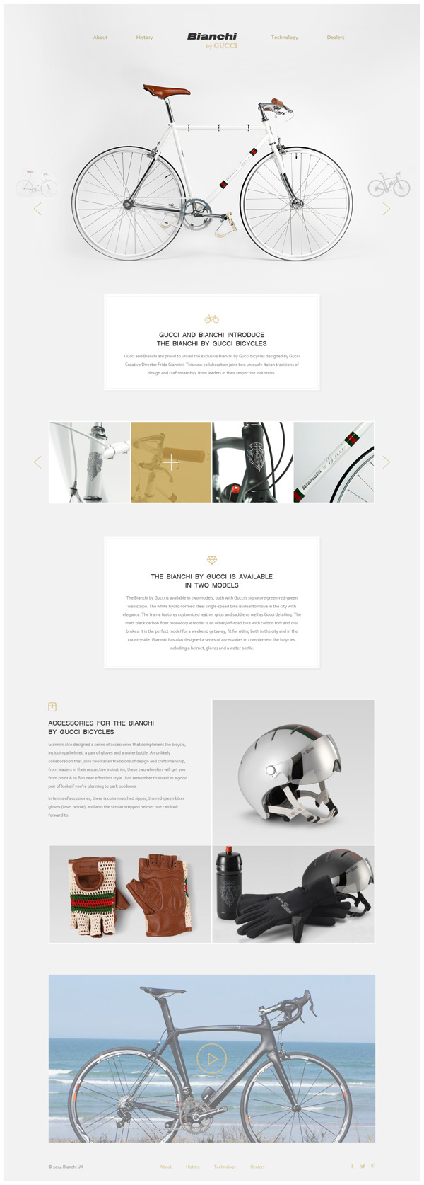 THE BIANCHI BY GUCCI BICYCLES by Max Lapteff #clear #site #ux #design #interface #ui #minimal #webdesign #art #web