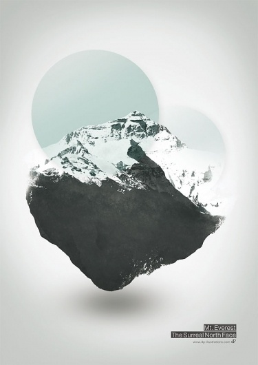 Mount Everest – The Surreal Northface – Illustration by Dirk Petzold | WE AND THE COLOR #illustration