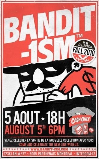 123Klan - Amour, violence, gloire et talent #bandit1sm #design #123 #illustration #poster #klan