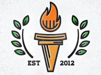 Dribbble - Education Logo by Adam Grason #vector #branding #education #fire #logo