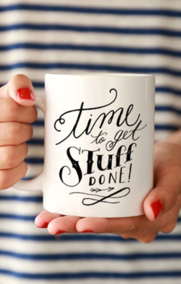 Time to get stuff done #design #mug #typography