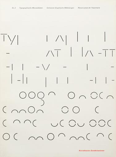 Typografische Monatsblätter. Die Fachzeitschrift für Typografie, Schrift und visuelle Kommunikation   Cover from 1966 issue 2   Cover Desi #layout #swiss #typography