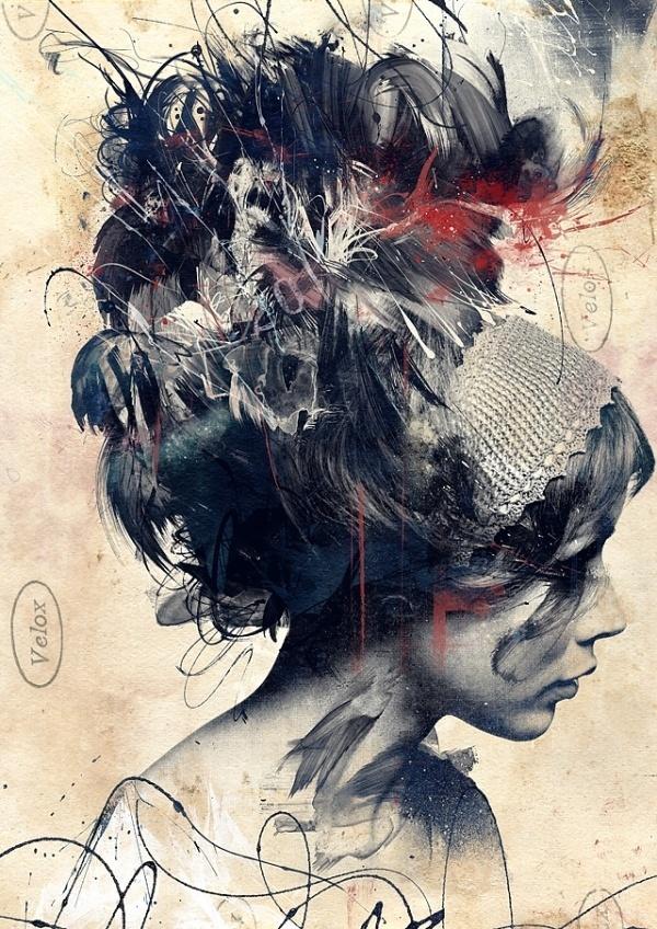 Colossal | An art and design blog. #paint #portrait #poster